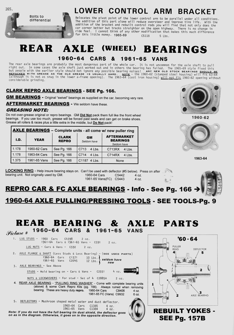 is your wheel bearing making noise? fix it now!!! - Corvair