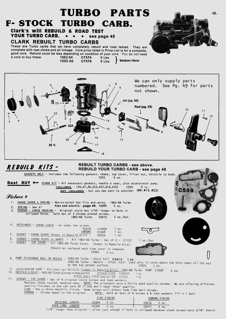 Clark S Corvair Parts Inc Corvair Parts Catalog Over