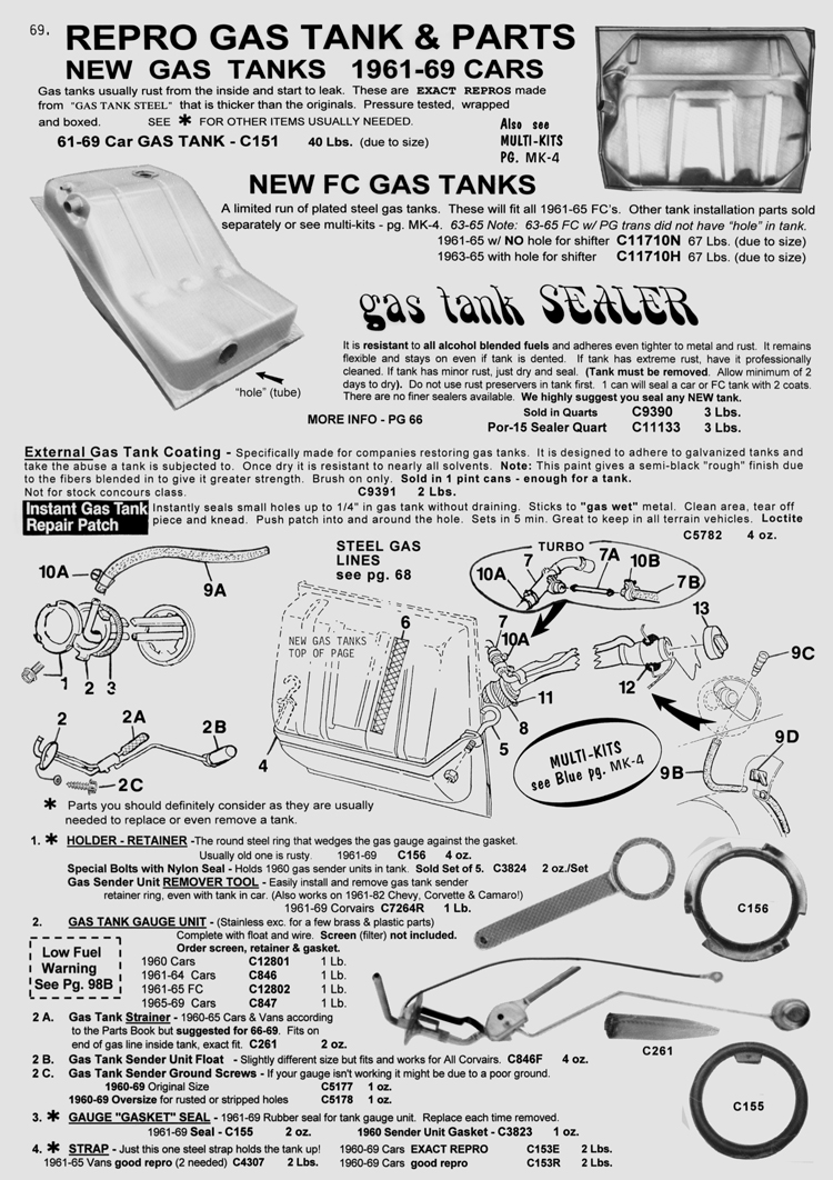 Clark's Corvair Parts, Inc. - Corvair Parts Catalog - Over 12,000 ...