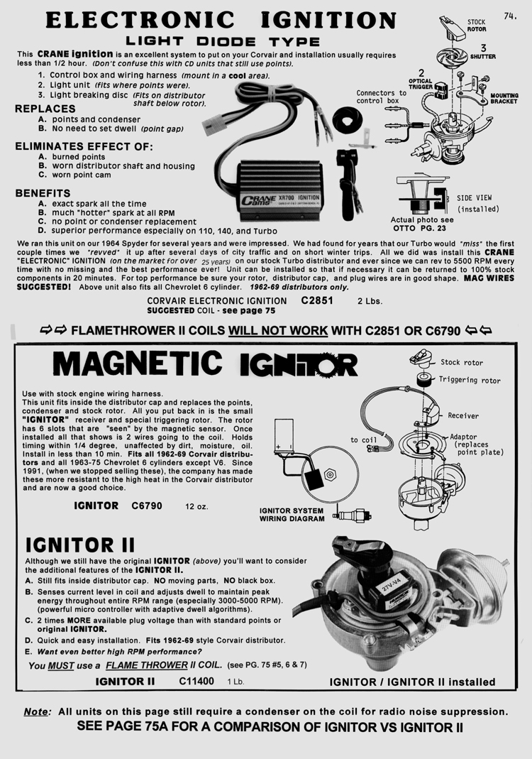 Distributor Difference 1961 Corvair Wiring Diagram The 1960 61 Utilized A Clip On Cap And Larger Round Rotor Centrifugal Advance Mechanism Weights Springs Were