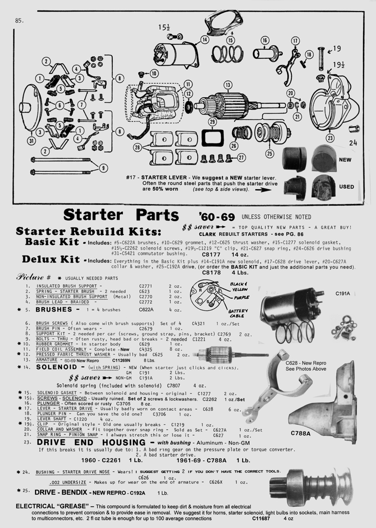Does This Sound Like A Starter Solenoid To You Wiring Diagram With Attached Part Number C191a Non Gm Gmc191 Attaching Screws C2262 Gasket C1277