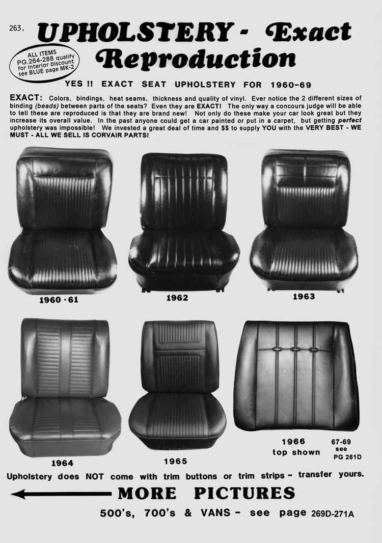 Seat Upholstery Pattern