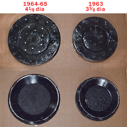 new repro of fc master cylinder floor hole covers