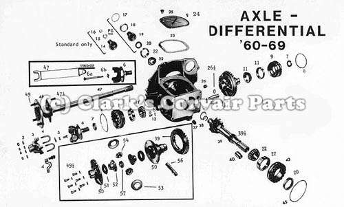 vw beetle transaxle diagram
